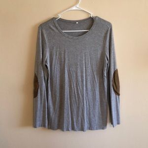 Tops - Large grey riding style shirt